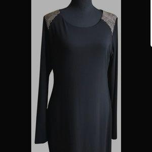 Vince Camuto Studded Shoulder Dress